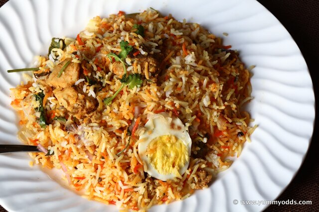 Chicken Dum Biryani ( Oven Method)