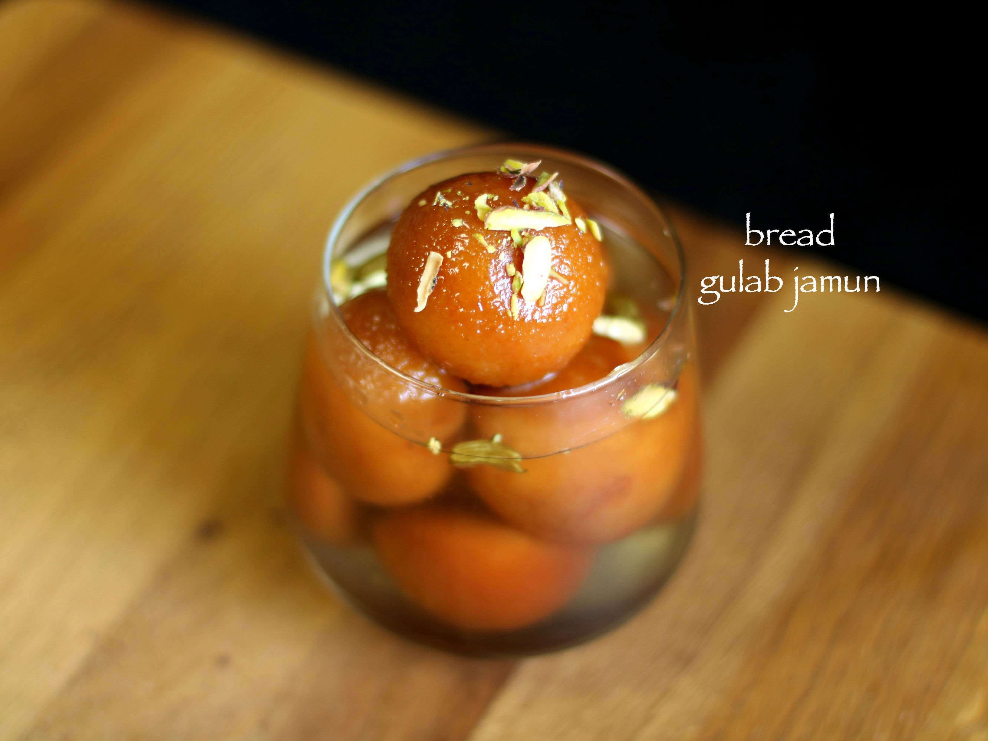 bread gulab jamun recipe | instant gulab jamun with bread