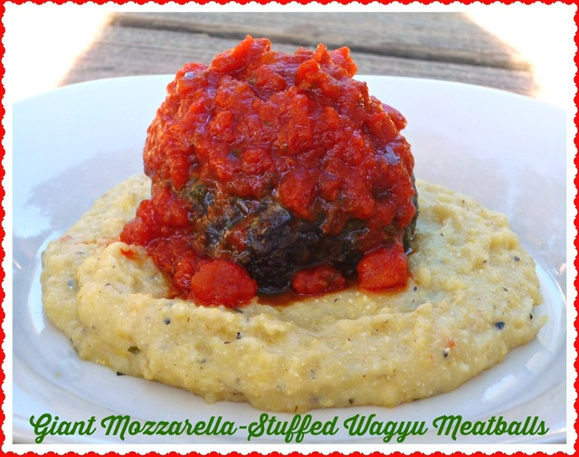 Lone Mountain Wagyu Beef Giveaway...Featuring Giant Mozzarella-Stuffed Wagyu Meatballs #giveaway