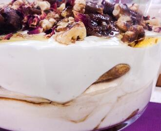 Just decadent: Fig, Coffee and Rose Trifle, Gluten Free