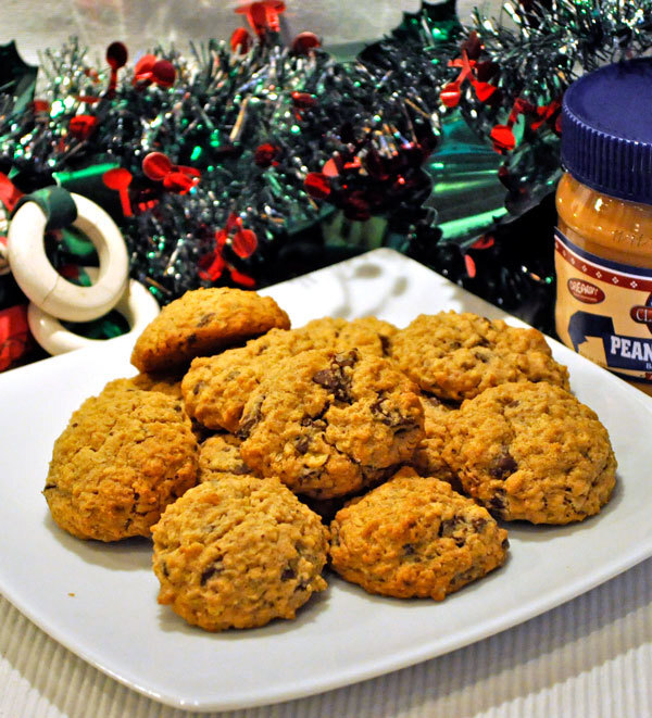 Peanut Butter, Oatmeal, Chocolate Chunk Cookies