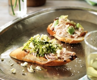 Two ways with Smoked Chicken Bruschetta