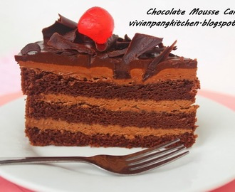 Chocolate Mousse Cake 巧克力慕斯蛋糕