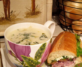 The true harvest of my life is intangible – a little star dust caught, a portion of the rainbow I have clutched. – Henry David Thoreau and Spinach and Artichoke Soup