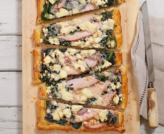 Smoked Chicken, Spinach and Feta Galette