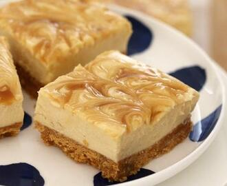 Salted Caramel Cheesecake Slice (No Bake)