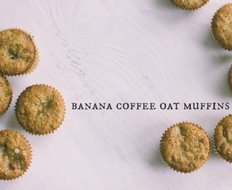 banana coffee oat muffins à la Vanilla Bean Blog