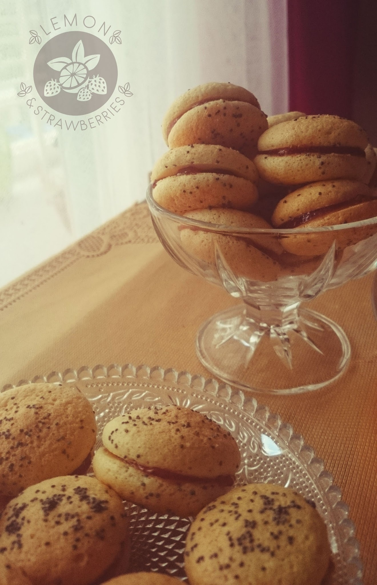 Baletki (Polish) - fluffy biscuits with marmalade and poppy seeds