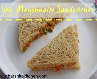 Veg. Mayonnaise Sandwich - Tea Time/ Breakfast Sandwiches