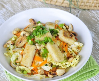 Chinese Tofu Salad with Cashews