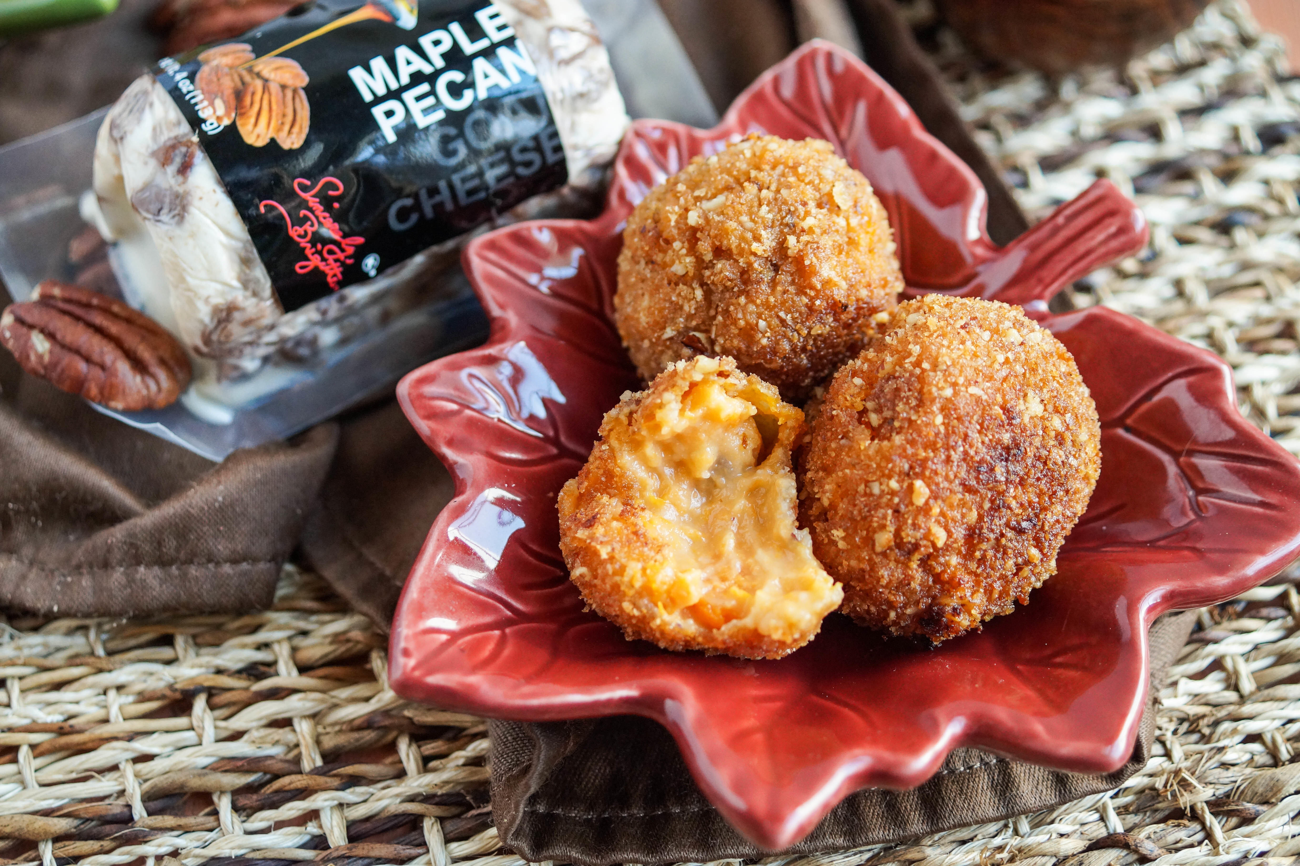 Sweet Potato Maple Pecan Goat Cheese Croquettes