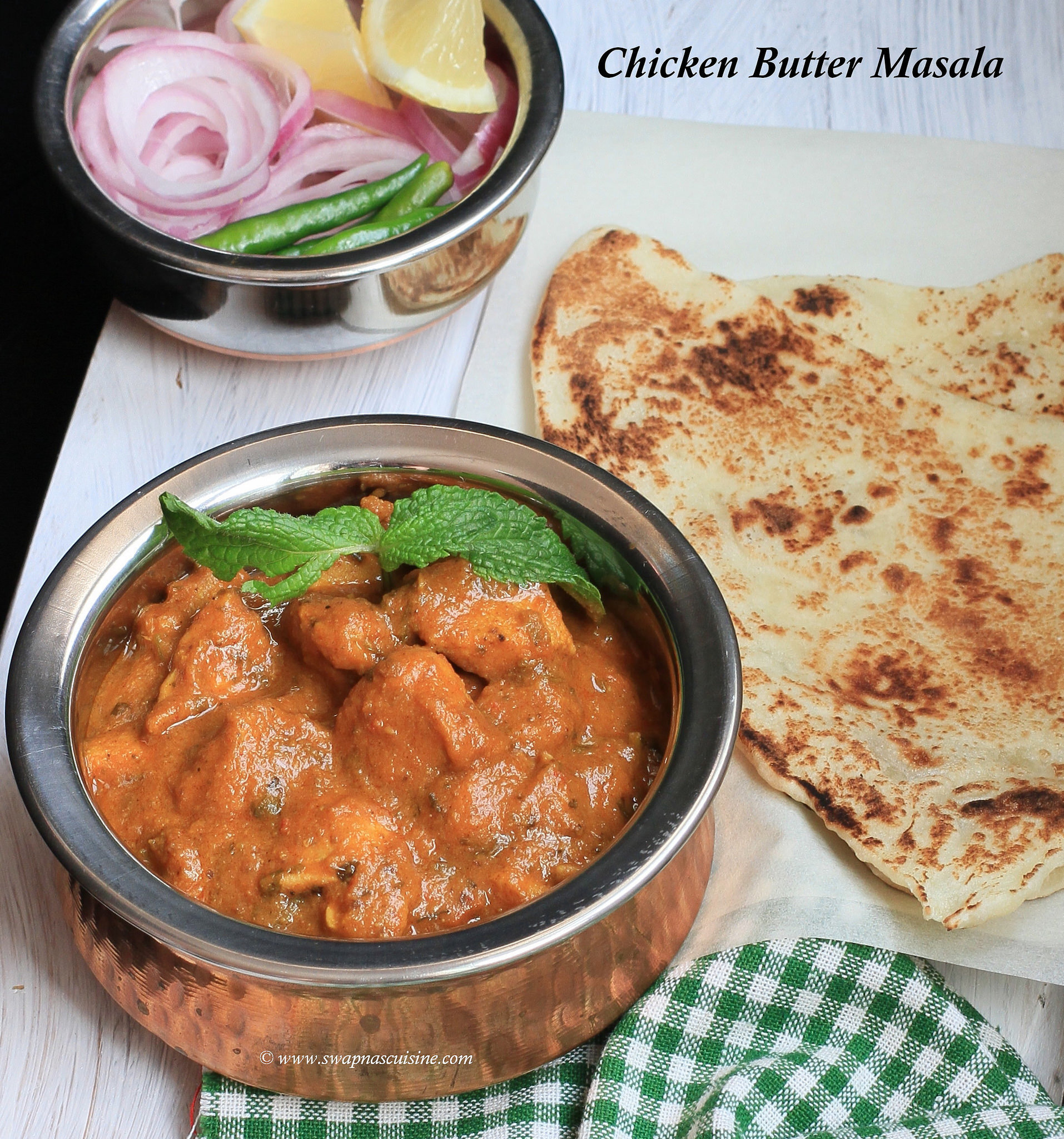 Chicken Butter Masala / Murgh Makhani Masala Recipe