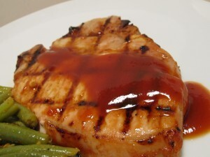 BBQ Pork Chops with Sweet and Sour Glaze