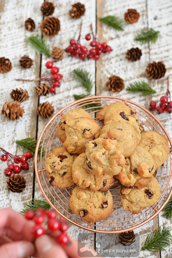 Crispy Crunchy Chewy Nutty White Chocolate Cranberry Macadamia Cookies