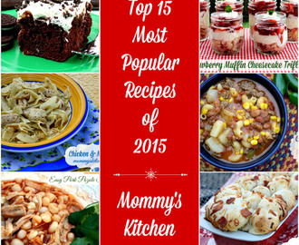 Top 15 Most Popular Recipes of 2015!