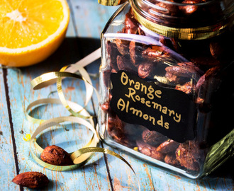 Orange - Rosemary and Smoked Salt Roasted Almonds