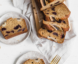 Bourbon soaked Cherry Banana Bread + some thoughts what's going on right now in our country