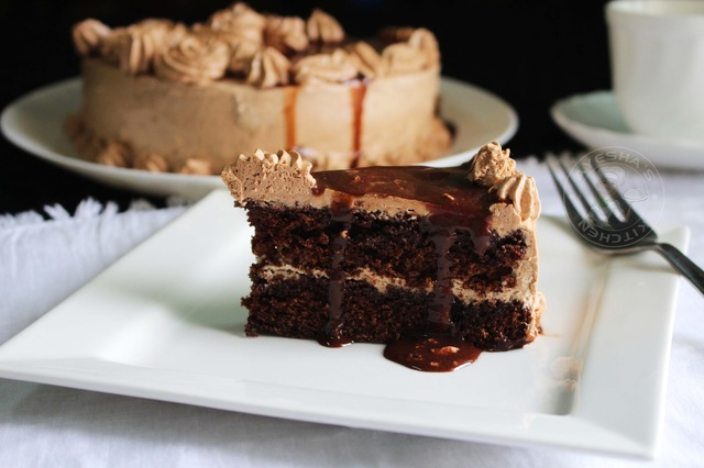 MOCHA CHOCOLATE CAKE - COFFEE CHOCOLATE CAKE RECIPE