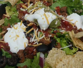 Leftover Lunch:  Quick & Easy Taco Salad Recipe Idea