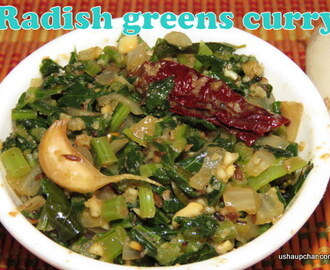 Radish greens curry I Mulangi soppina palya