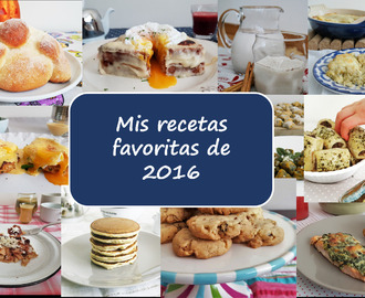 My 12 favorite recipes of 2016/ My 12 favorite recipes from 2016