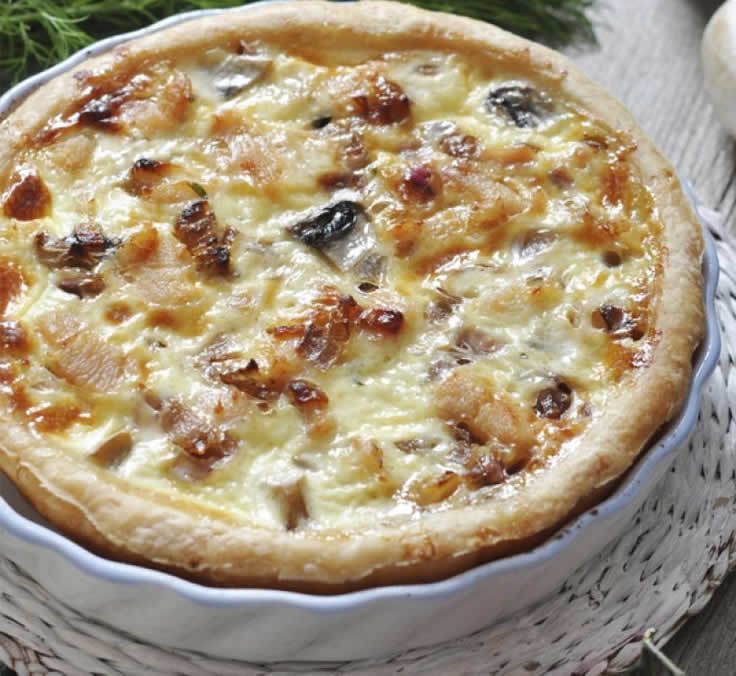 Quiche poulet curry champignons au thermomix
