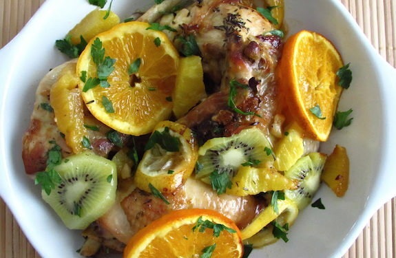 Chicken with fruit | Food From Portugal