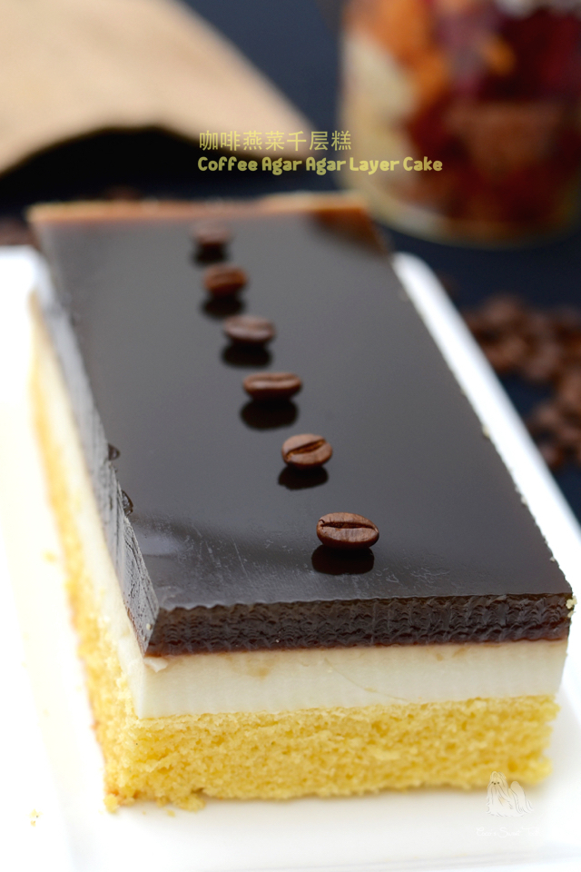 咖啡燕菜千层糕 Coffee Agar Agar Layer Cake