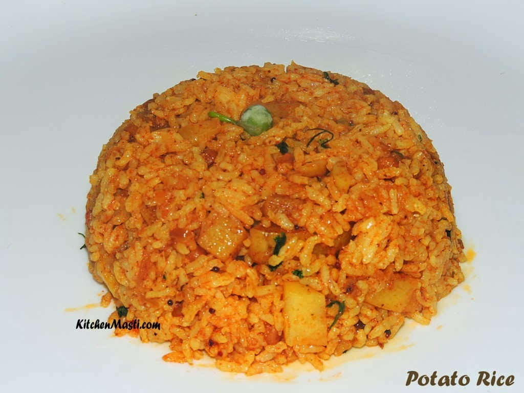 Potato Rice Recipe ( Aloo Rice Masala )