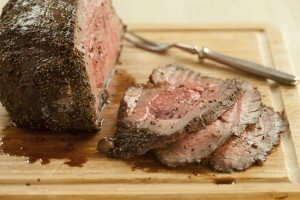 Honey Mustard Glazed Topside Beef Roast