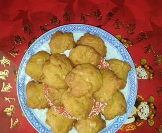 CNY 2017 - ORANGE COOKIES WITH WHITE CHOCOLATE CHIPS
