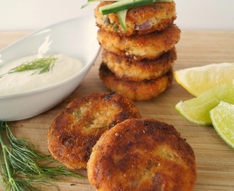 Fish Cakes with Lemon Cream {Recipe}