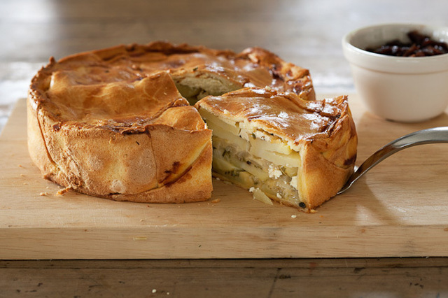 Potato, Cheese and Onion Pie