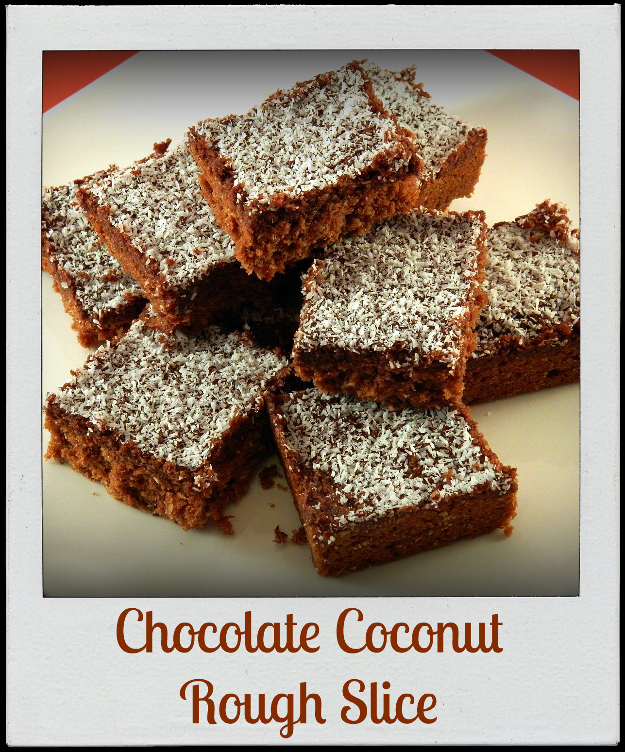 Chocolate Coconut Rough Slice - Back to Basics