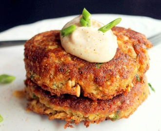 Creole Salmon Cakes with Hot Mayonnaise