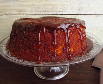 Caramelized lemon sponge cake
