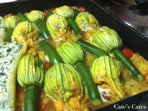 Recipe: Stuffed zucchini on roasted tomatoes