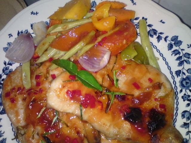Thai Style Baked Chicken in Plum Sauce