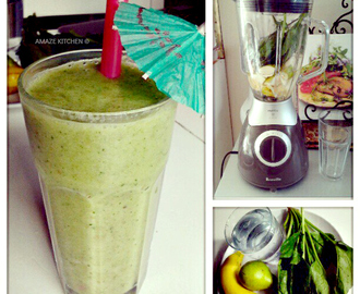 Green Smoothie: Spinach, Pear & Banana