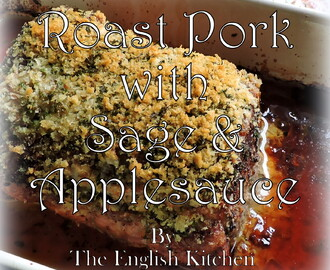 Pork Loin with Sage & Applesauce