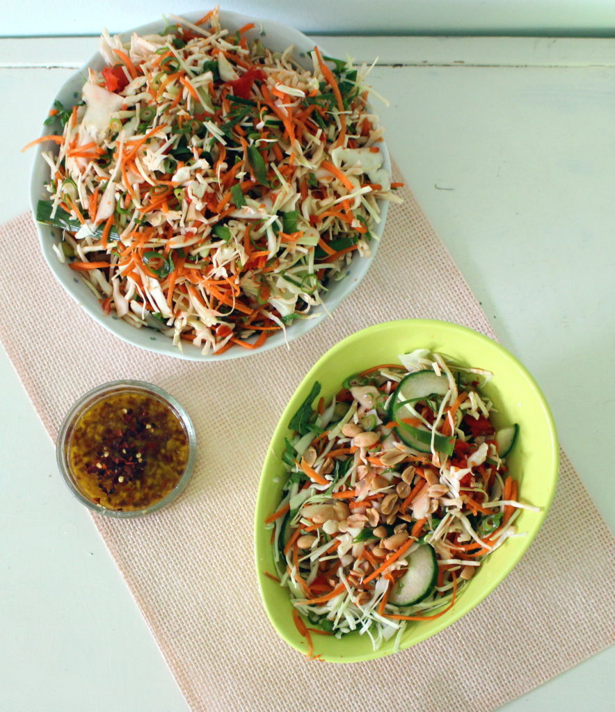 Shredded Thai salad with chilli/lime dressing