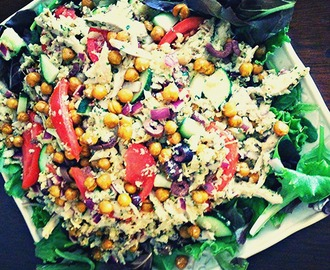 Loaded Cauliflower 'Couscous' Salad with Roasted Turmeric Chickpeas + THAT Study
