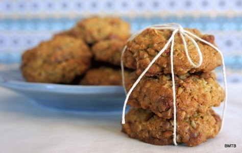 Cinnamon Pecan and Oat Cookies