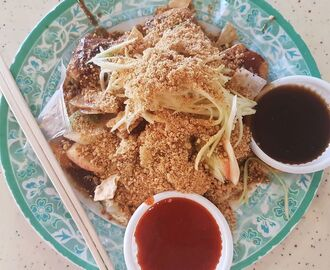 Rojak is a crazy mix of sweet, salty, spicy, fishy, nutty, and tart all in one plate. #SGeats #rojak #desserts #BTMtravels