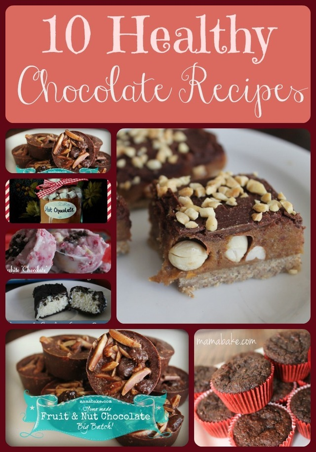 10 Healthy Chocolate Recipes: mainly dairy/gluten free/low sugar