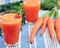 Detox juice with carrot and ginger