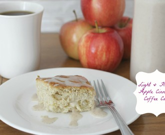 Light And Fluffy Apple Cinnamon Coffee Cake