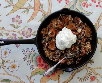 grilled banana crumble