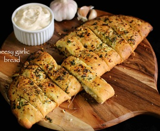 garlic bread recipe | cheesy garlic bread recipe | garlic cheese bread