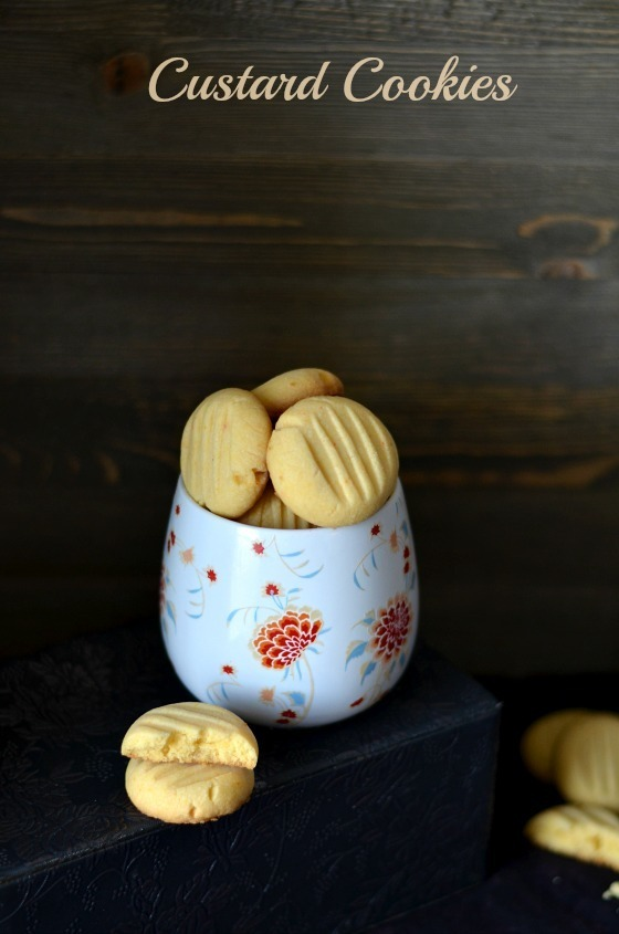 Custard Cookies/Custard Powder Cookies